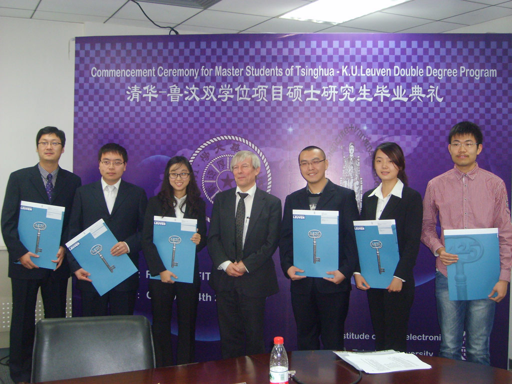diplomas awarded to first dual degree graduates in tsinghua ku this is one of the first dual programmes offered by tsinghua in cooperation a foreign university negotiations to expand the concept to other degree